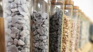 Proefbuisjes met steenstalen